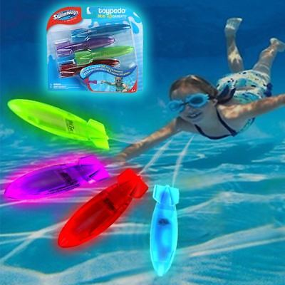 Swimways Toypedo /Lite Up/ Bandits | Diving & Underwater Pool Toy (Pack of 4)