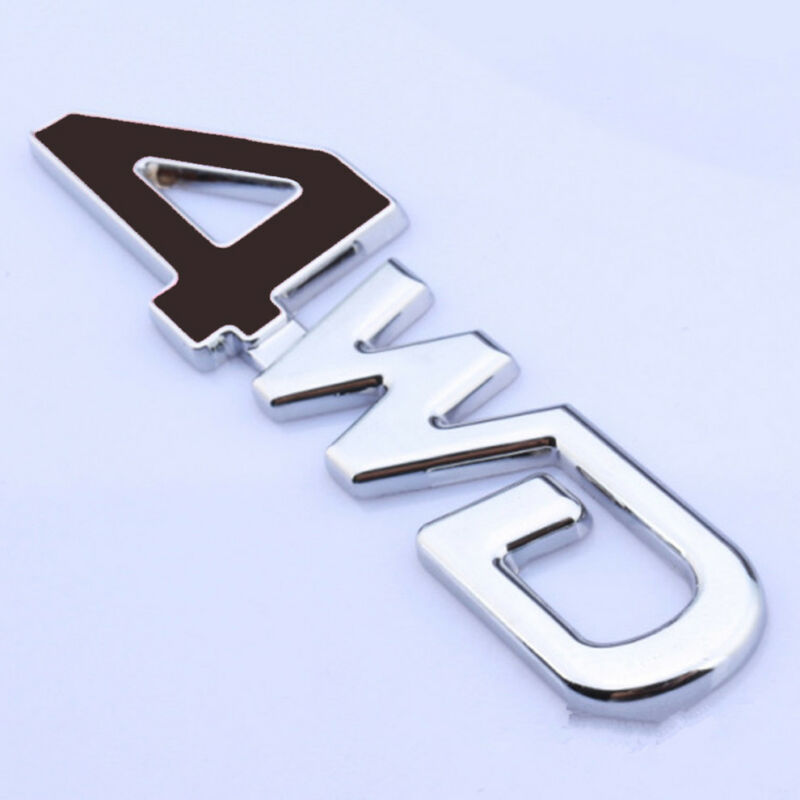 1Pc 4x4 Emblem 3D 4 X 4 Door Tailgate Badge Nameplate Car Sticker Decal Compatible for Universal Truck Car SUV Chrome