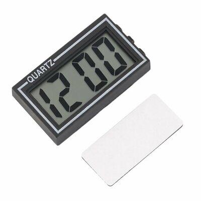Black Digital LCD Table Car Dashboard Desk Date Time Calendar Small Clock @3