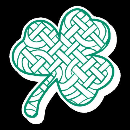 Reflective Celtic Weave Clover / Shamrock Decal Firefighter Fire Helmet 2 inch
