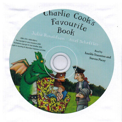 Julia Donaldson Story CD - AUDIO CD - CHARLIE COOK'S FAVOURITE BOOK CD - NEW