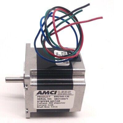 Amci Sm2340-130 Stepper Motor 200 Stepsrev Shaft Diameter 14 Nema 23
