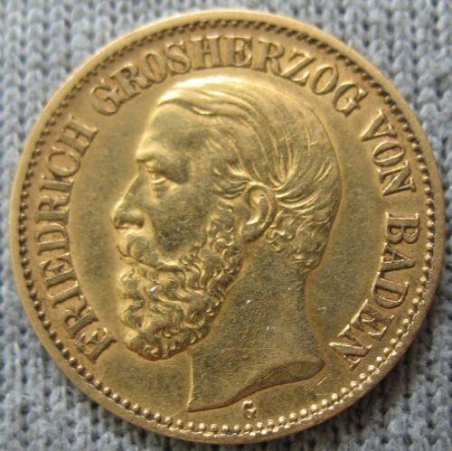 German Baden 1901-G Gold 10 Mark