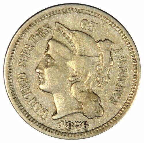 1876 THREE CENT NICKEL ~ NICE 3C. SHARP VF+XF ~ PRICED RIGHT! (INV#35)