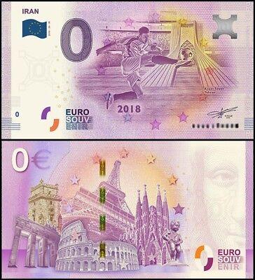 Azadi Tower UNC Zero IR FIFA World Cup 2018 0 Euro Banknote