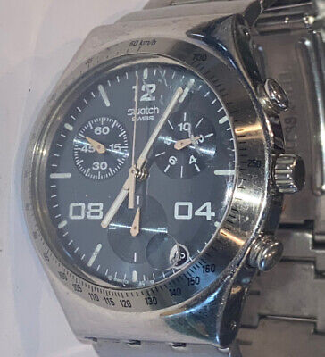 Swatch Men's  Stainless Steel Chronograph Watch