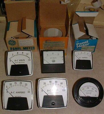 Lot Of 5 Analog Panel Meters Ge Simpsontriplet