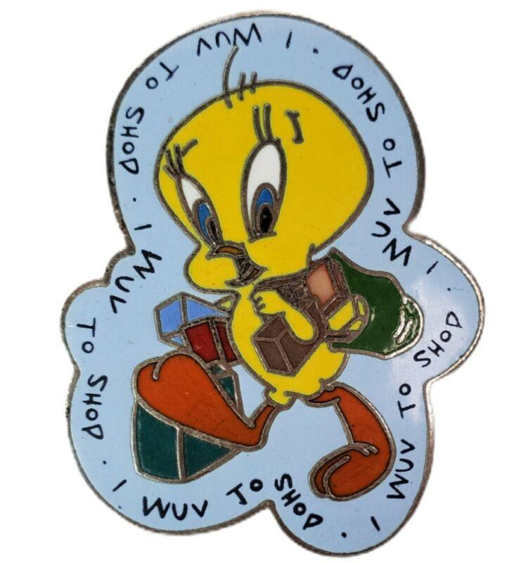 Vtg Warner Brothers Tweety Bird Lapel Pin Tack