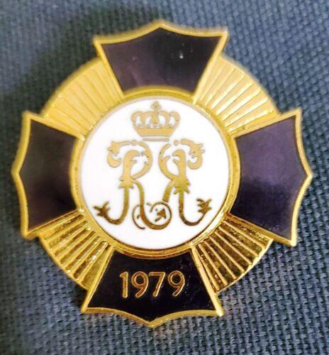 """Vintage 2"""" Krewe of Rex 1979 Brooch Pin Mardi Gras New Orleans"""