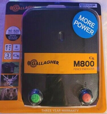 Gallagher M800 Electric Fence Energizer 110 Volts 8 J Blackorange Brand New
