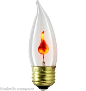 1pc Flickering Flame Standard Light Bulbs 3w Realistic Candle Flicker E26 Ebay
