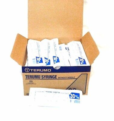 Terumo Syringe Without Needle 30ccml New Box Of 25 Latex Free Luer Lock Tip