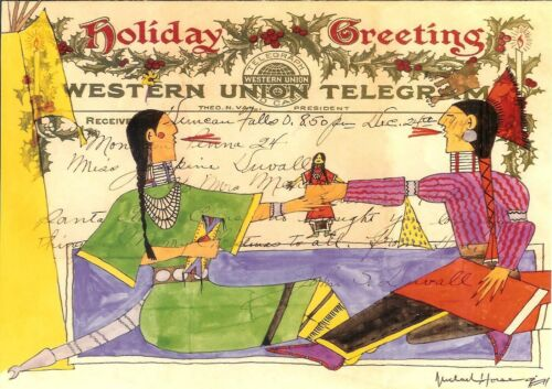 12 Native American Holiday Cards (4 varieties) by Michael Horse
