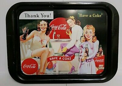 "1999 Coca- Cola ""Thank You! Have A Coke"" Advertising Metal Serving Tray Vintage"