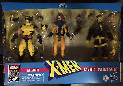 Marvel Legends 3 Pack Wolverine Jean Grey Cyclops Love Triangle 80 Years