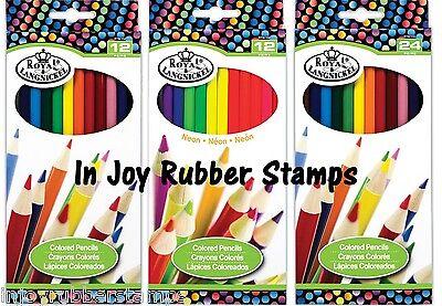 Royal Colour Pencil (SCHOOL SUPPLIES Royal Brush Colored Pencils 12 Vibrant Colors, Neon, Metallic )