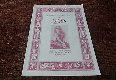 Sadler Wells ballet Margot fonteyn  Cleveland Music Hall  1954 program