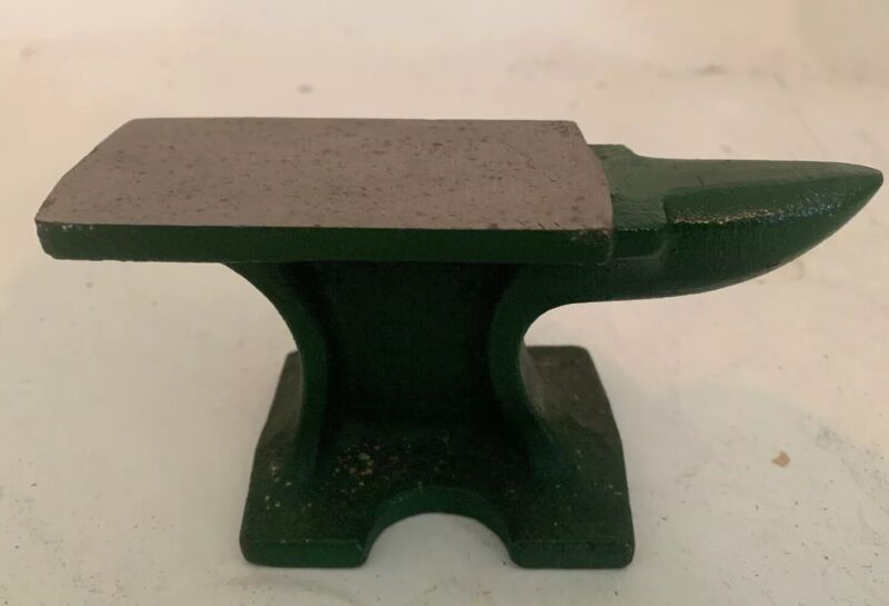 "Miniature Anvil 5"" Green Jeweller Watchmaker"