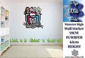 Monster High Wall Art Sticker Children's bedroom décor kids large sticker decal.