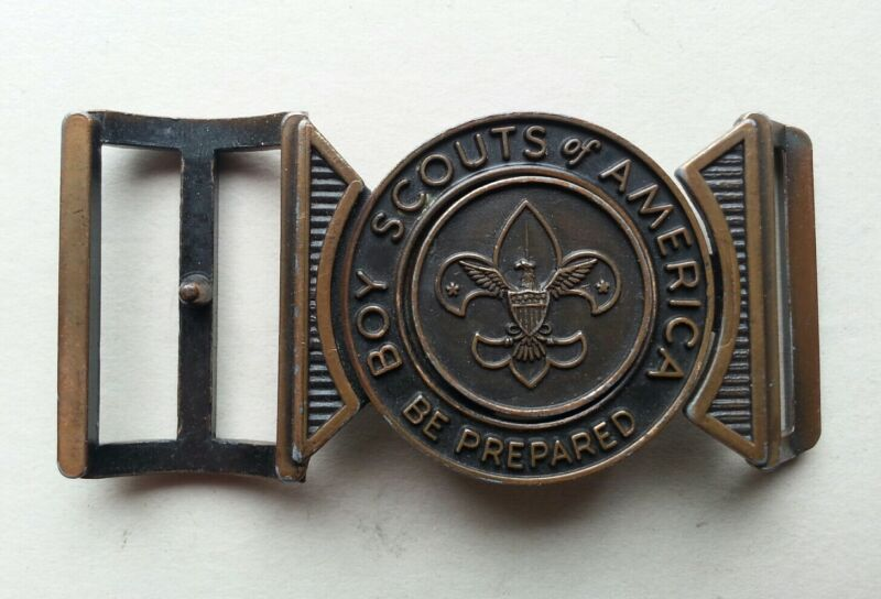 Vintage BSA Boy Scouts of America 2 Piece Bronze Belt Buckle