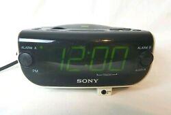 Sony Dream Machine ICF-CD815 AM FM CD AUX input Dual Alarm Clock Radio Tested