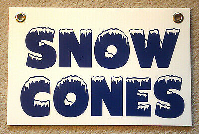 Snow Cones Coroplast Sign New 8 X 12 Concession Stand 25 Off 3 Or More