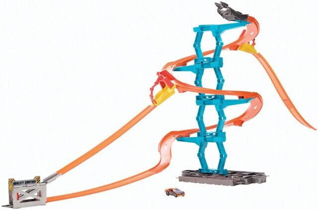 Hot Wheels Car Race Track Builder Spiral Stack Up Mattel Ages 4+ New Toy Boys
