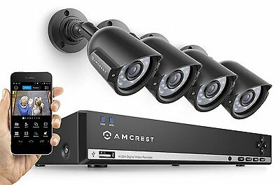 Amcrest 960H Video Security System with Four 800+ TVL Weathe