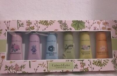 Crabtree & Evelyn Hand Therapy Moisturizer Cream Lotion 6 Piece Gift Set sealed ()