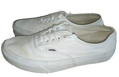Vans UK 6 Authentic Lace Up Daps flats Skate Shoes White #2 EU 39 Skateboarding