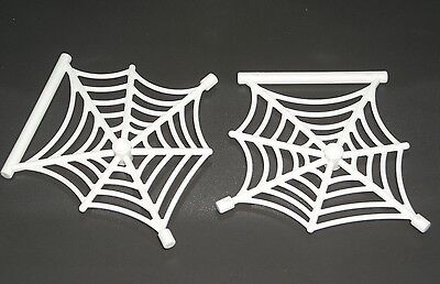 LEGO 2 White SPIDER WEBS Hanging Halloween / Spider-man Accessories 75093 76037