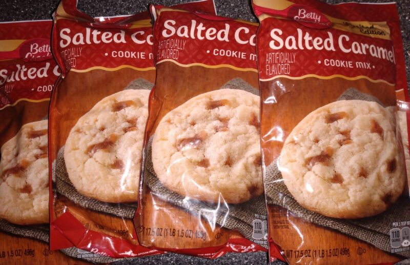 BETTY CROCKER SALTED CARAMEL COOKIE MIX *LIMITED EDITION* 4 BAGS