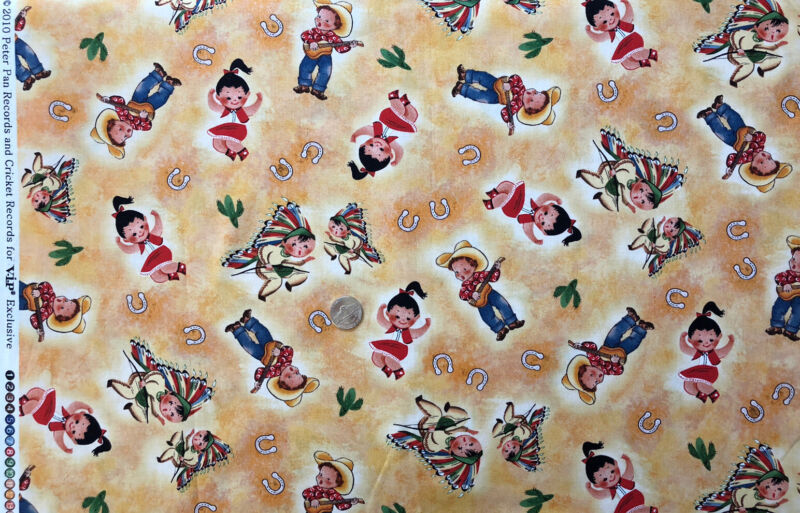 Artwork 2010 Peter Pan and Cricket Records Fabric - Cowboys & Indians Small  BTY