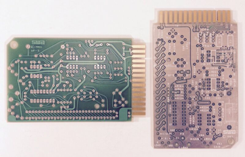 """SWA UP-2 PCB Printed Circuit Boards 4.5"""" x 2.75"""" Vintage 1983 QTY of 2 NOS"""