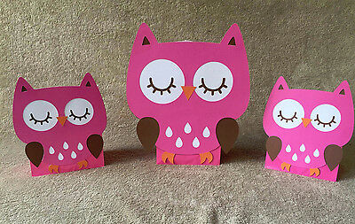 Pink Owl Balloon Centerpieces. Great for birthday party or baby shower.Set of - Balloon Centerpieces For Baby Shower