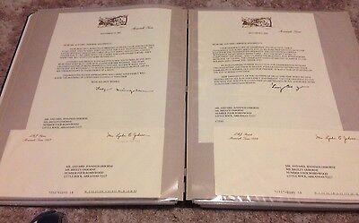 22 Lady Bird Johnson First Lady Autographed Letters to Jennings Osborne  binder