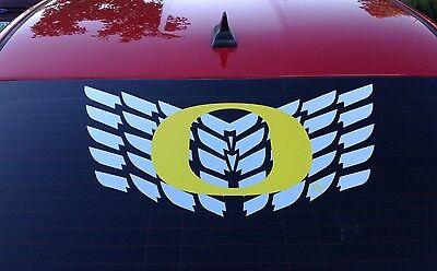 Oregon Ducks O logo with Wings Rare car truck decal sticker