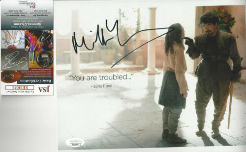Game of Thrones  Miltos Yerolemou  autographed 8x10 color photo JSA Certified