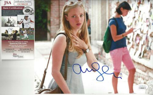 Amanda Seyfried Mama  Mia  autographed 8x10 color photo JSA Certified