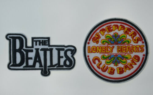 The BEATLES + SGT. PEPPERS CLUB  Embroidered Patches Badge Iron Sew On Applique