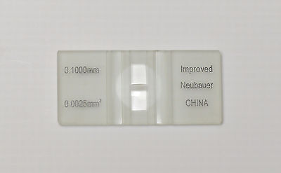 2 Cell Counting Chambers Improved Neubauer Hemocytometers Blood Cell Counters