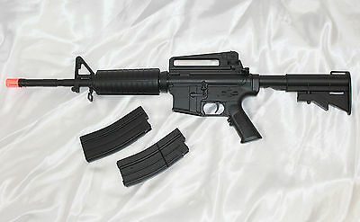Well D94S M16 M4A1 Electric Airsoft Rifle/Gun - Full/Semi Auto AEG + Extras  NEW for sale  Mankato