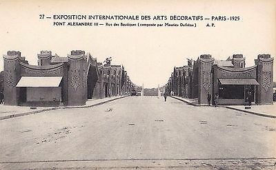 Original 1925 Paris Exposition des Arts Decoratifs Postcard Art Deco DUFRENE