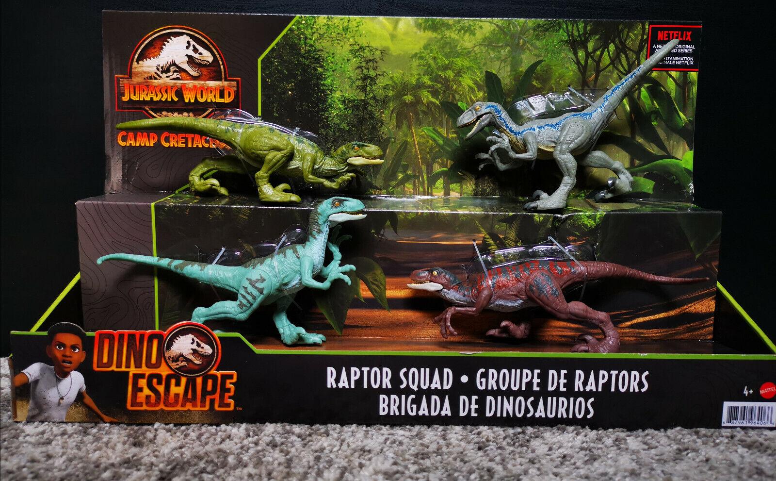Mattel ® GXW52 Jurassic World Camp Cretaceous | Raptoren Geschenkset