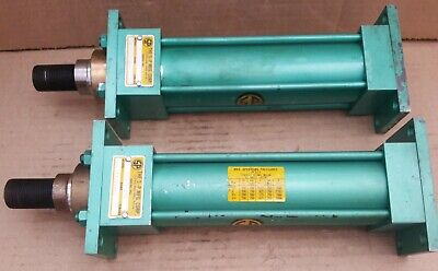 Two Nos S-p Manufacturing Hydraulic Cylinder 1 Rod 2 Bore 6 Stroke 925psi A3e