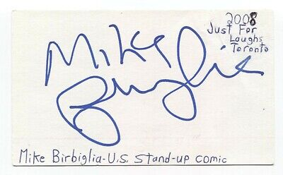 Mike Birbiglia Signed 3x5 Index Card Autographed Signature Actor Comedian - $36.00