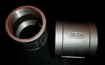 Fc-125 Stainless Steel Coupling 1 14 Npt Female Pipe Fitting