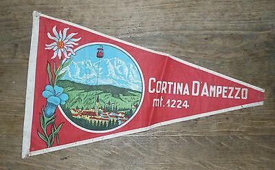 Alter Wimpel für Fahrrad Cortina D´Ampezzo um 1930