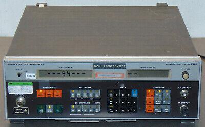 Marconi 2305 Rf Modulation Meter Fm Am