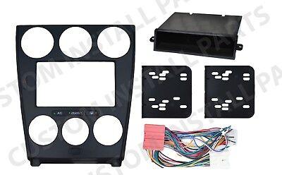 Din Black Dash Kit - Black Double Din Dash Kit Mount Radio Stereo Wiring Harness Install fits Mazda 6